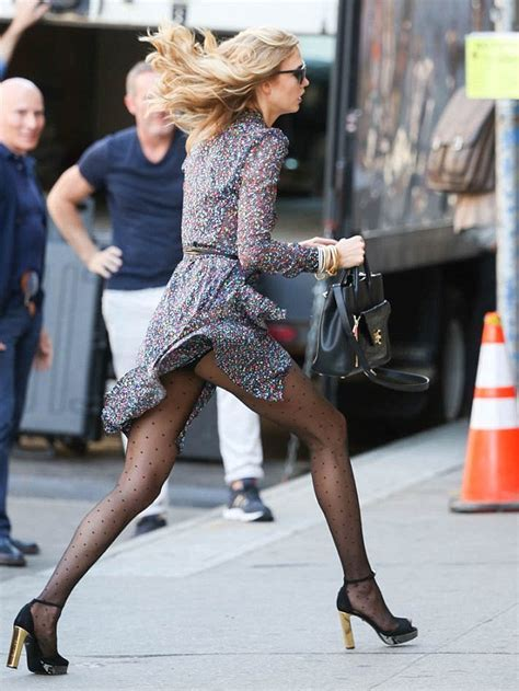Karlie Kloss Flashes Underwear In Flouncy Dress As She Has A Marilyn Monroe Moment During Diane