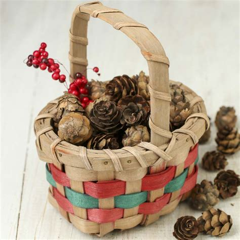 small christmas wicker basket baskets buckets boxes