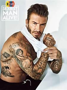 David Beckham Sexiest Man Alive 2015: Tattoo Photos ...