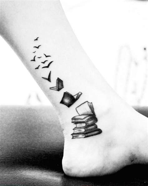 Books transforming into birds. #bookwormtattoos | watercolor tattoo | Book tattoo, Tattoos, Cute