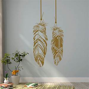 Feathers Wall Decals Tribal Wall Art Boho Bohemian Wall ...