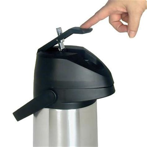 Adcraft APL 19   1.9 Liter Air Pot Coffee Dispenser   Lever Pump   Airpot Coffee Dispensers