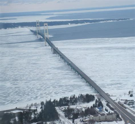 Mackinac Bridge opens for some vehicles, but stays closed ...