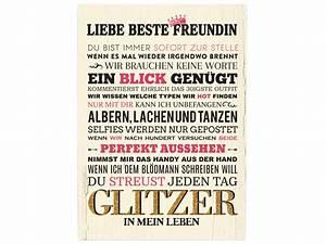 WANDTAFEL Holzschild LIEBE BESTE FREUNDIN Geschenk