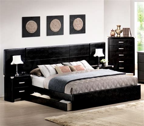 Black Contemporary Bedroom Furniture Design  Bedroom