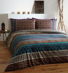 Chocolate Brown Duvet Covers by Ethnic Indian Style Fusion Teal Chocolate Brown And Gold