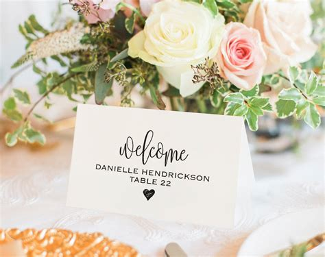 place card template printable template wedding place cards