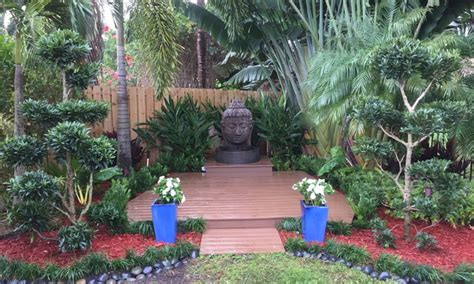 zen garden tropical landscape miami by bamboo