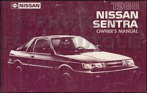 1988 Nissan Sentra Wiring Diagram Manual Original