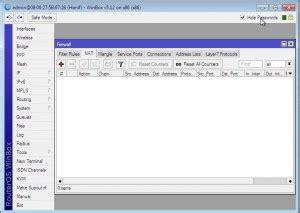 setting nat  router mikrotik menggunakan winbox oleh