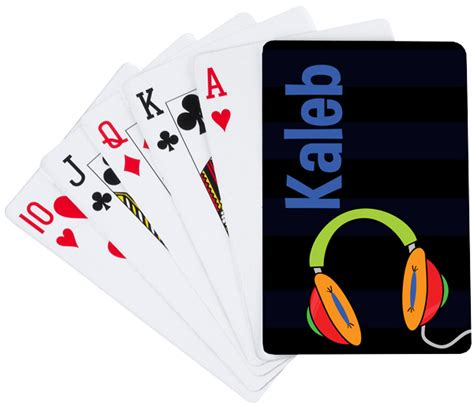 headphones playing cards custom playing cards