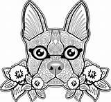Coloring Dog Skull Sugar Adults Adult Bestcoloringpagesforkids Printable Sheets Bull Symmetrical Puppy Skulls Colouring Zendog Goldendoodle Mandalas Animals Mandala Printables sketch template