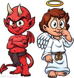 Angel and Devil Cartoon