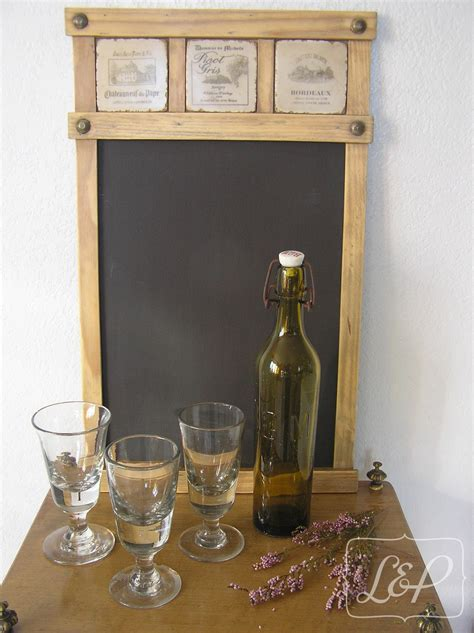 pense bete cuisine tableau décoratif en bois avec ardoise pense bête