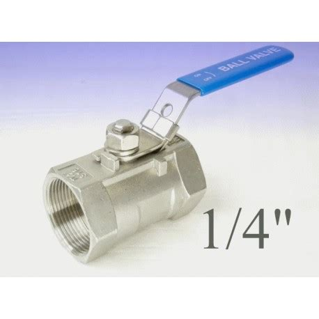 rubinetti a sfera valvola a sfera inox passaggio ridotto 1 4 quot gas