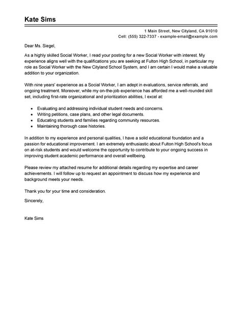 cover letter exle cover letter exle social services