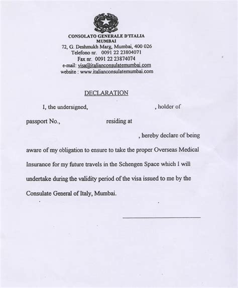 sample  declaration letter format   memorandums