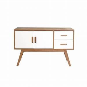 Buffet Scandinave Blanc Et Bois : meuble design scandinave pas cher le monde de l a ~ Melissatoandfro.com Idées de Décoration