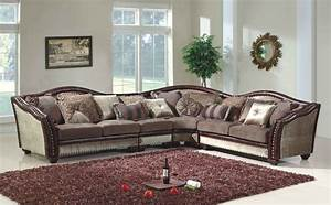 chateau formal antique style traditional living room With sectional sofa for formal living room