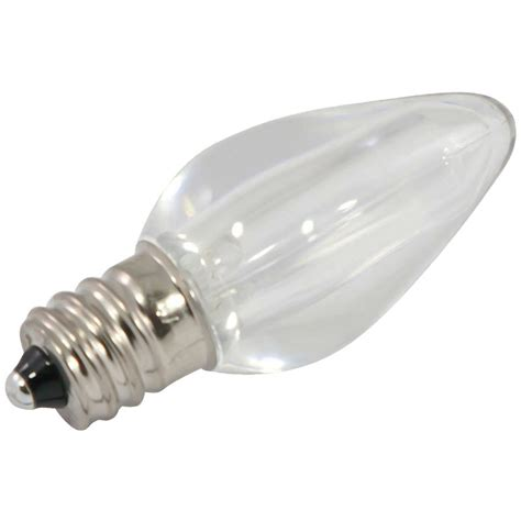 white smooth led c7 light bulbs 25 pack