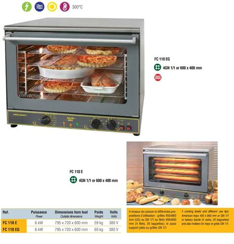 roller cuisine roller grill fc110e convection steam bakery oven