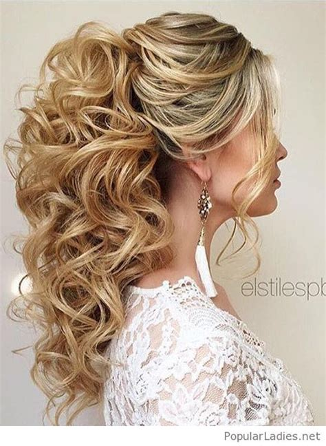 high curly ponytail wedding hair my next big project