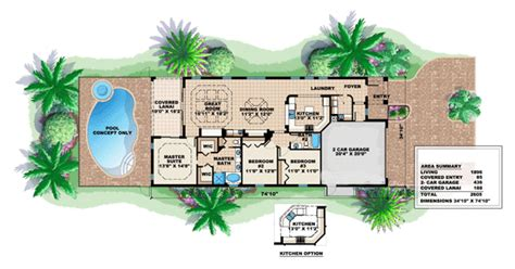 House Plan 60753 Mediterranean Style with 1896 Sq Ft 3