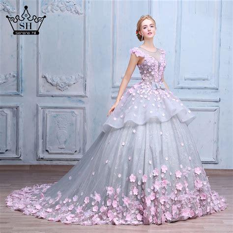 pink flower ball gown wedding dress bridal dress robe de