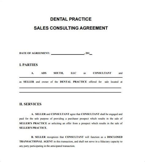 consultant contract templates  word  documents