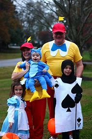 Alice and Wonderland Family Halloween Costu…