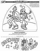 Concert Coloring Crayola Pages Jammin Dome sketch template