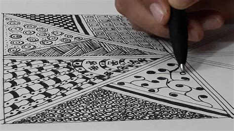 draw zentangle pattern zentangle  beginners