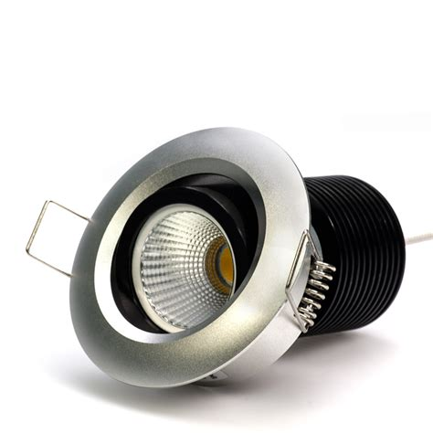 8 watt cob led aimable recessed light fixture bridgelux