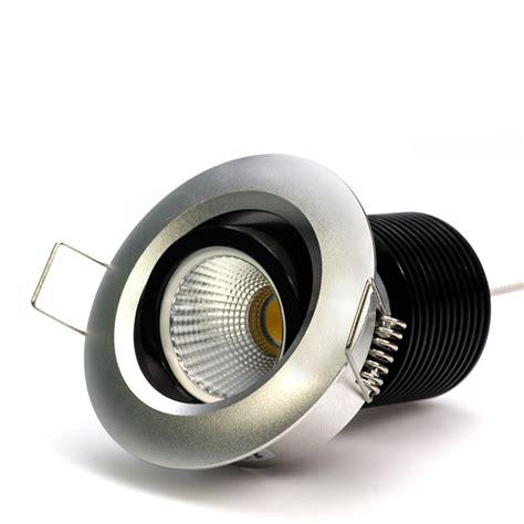 8 watt cob led aimable recessed light fixture bridgelux