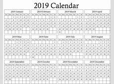Vacation Calendar Template 2019 Free Printable 2018