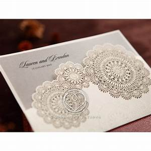 rustic lace pocket doily style with pocket invitation With lace pocket wedding invitations uk