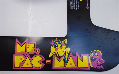 ms pacman video arcade game machine cocktail table