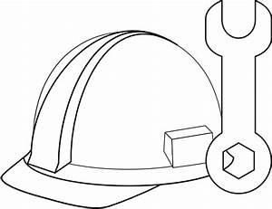White Hard Hat & Tool Clip Art at Clker.com - vector clip ...