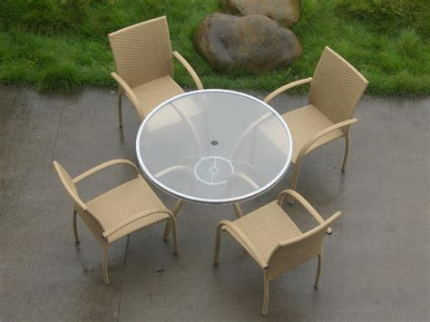 garden glass dining table rattan coffee table t106