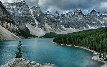 Canada Canadian Lake Wallpapers Moraine Alberta 1920
