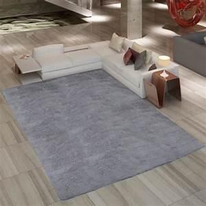 tapis a poil long gris 80 x 150 cm 2600g m2 achat With tapis chambre bébé avec cdiscount les canapés