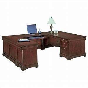 Flexsteel Rue de Lyon Executive U-Shaped Desk - 7684-5XX