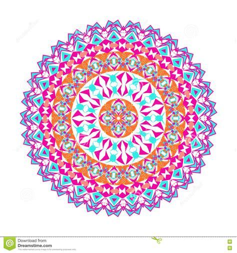 vector colorful mosaic mandala beautiful design element