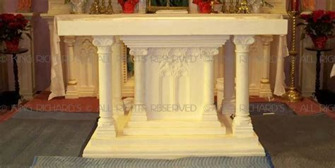 Roman - New Hand Carved Marble Altar Table