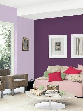 two shades dark purple as a feature wall light purple for