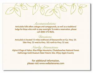 pin accommodation card examples of wedding invitation With examples of wedding enclosure cards