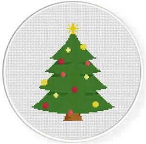 christmas tree cross stitch pattern daily cross stitch