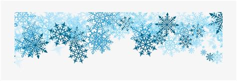Transparent Background Snowflake Border by Snowflake Border Blue Snowflakes Border Png Free