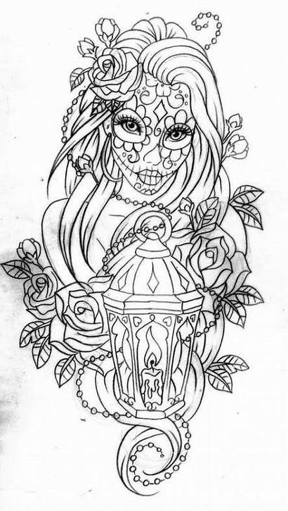 Coloring Pages Trendy Adult Halloween Skull Drawing