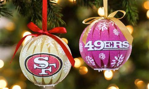 Nfl 6-pack Led Christmas Ornaments